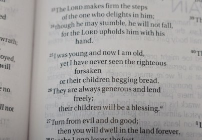 bible page re God not forsaking His children